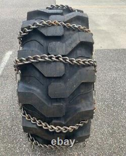 11mm 16.9-24 17.5L-24 HEAVY DUTY SNOW ICE MUD TRACTOR TIRE CHAINS