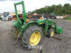 1987 John Deere 850 Tractor, 4WD, John Deere 80 Front Loader, R1 Tires