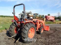 2017 Kubota L4701 Tractor, 4WD, LA765 Front Loader with SSL QA, R1 Tires, 164 Hrs