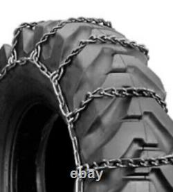 2 Chains1 Set 20.5x25 Grader Scraper Otr Snow Ice Mud Tire Chains