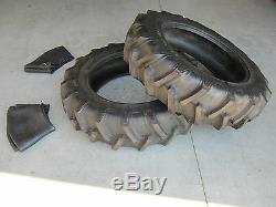 2 New 12.4x28 Tractor Farm Tires + Innertubes 6 Ply 12.4 28 R1 Agriculture Ag