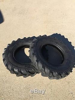 (2) New 600x14 6.00x14 600-14 6.00-14 R-1 LUG farm Tractor Tires
