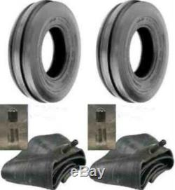 (2) New 6.00-16 6 PLY HD 6.00X16 Rib Imp DISC, WAGON Farm Tractor Tires withTubes