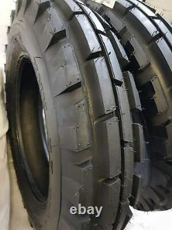 (2 TIRES + 2 TUBES) 7.50-16, 6 PLY ROAD CREW KNK33 Farm Tractor Tires 7.50x16