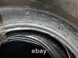 6.00-16 (2 TIRES + 2 TUBES) BLEM 8 PLY ROAD CREW ST1 F2 3-Rib Farm Tractor Tires