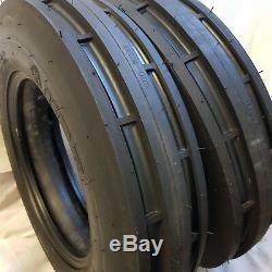 6.00-16 (2 TIRES + TUBES) 8 PLY ROAD CREW ST1 F2 3-Rib Farm Tractor 6.00X16