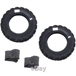 6.00-16, 6.00x16 2 Tires + 2 Tubes 8 PLY R1 Farm Tractor Tire