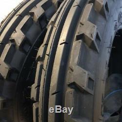 6.00x16, 6.00-16 (2-TIRES + TUBES) 8 PLY ROAD CREW KNK-30 4-Rib Farm Tractor