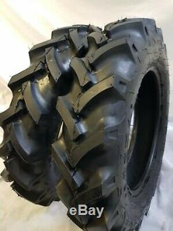 6.50-16, 6.50x16 (2 TIRES + 2 TUBES) 6 PLY KNK50 R1 Farm Tractor Tires WithTube