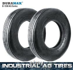 7.60L-15 8PR Duramax D-500 I-1 AG Farm Rib Implement Tire (2 Tires) 7.60Lx15