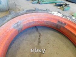 8 24 farm tractor tire on Allis Chalmers tractor rim Tag #585