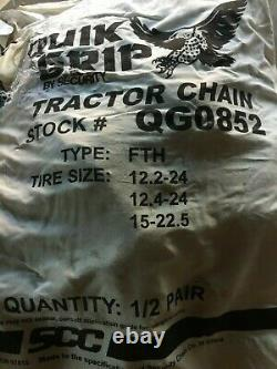 Farm Tractor Tire Cains Ladder Style Tire Chains, Snow / Mud 12.2-24 Tire 1Pair