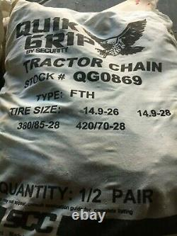 Farm Tractor Tire Cains Ladder Style Tire Chains, Snow / Mud 14.9-26 Tire 1Pair