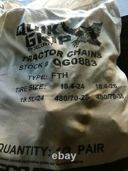 Farm Tractor Tire Cains Ladder Style Tire Chains, Snow / Mud 18.4-24 Tire 1Pair