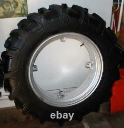 Farmall Super A Farm Tractor Rear Tire And Rim 11.2-24 100% Tread Pics In Ad