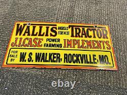 J. I. Case Wallis Tractors Implements Porcelain Sign Farm Gas Oil Rockville MO