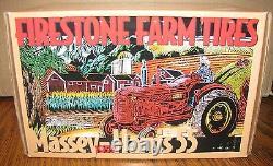 Massey Harris 55 Tractor Firestone Farm Tires 1/16 Ertl Toy 1998 Lt Ed 878/5000