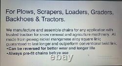 PEWAG STRONGEST CHAIN 14.00-24 ALLOY SQUARE LINK Loader Grader Scraper