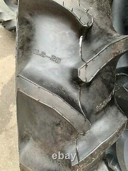 Pair Goodyear 11.2-28 Duratorque Vintage antique tractor farm tyres. Brand new
