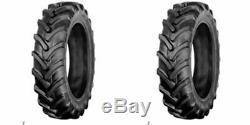 SET OF TWO New 8-16 Farm Tractor Lug R-1 Tires with Tubes 8x16 8-16
