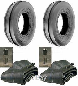 TWO (2) 7.50-16 7.50X16 750-16 750X16 3 Rib Tri 8PR Farm Tractor Tires & Tubes
