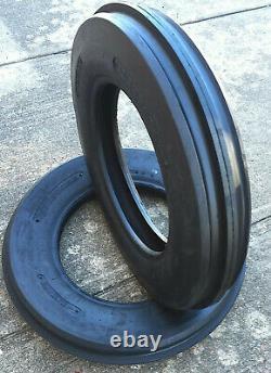 TWO 400X19, 4.00-19, 400-19 THREE Rib FORD 2N 9N Tractor Tires Heavy Duty Farm