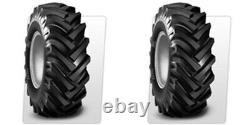TWO 5.00-15 R-1 Lug Compact Farm Tractor Tires & Tubes 6ply Rated BKT HAY RAKE