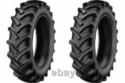 TWO 5.00-15 StarMaxx TR-60 R-1 Lug Compact Farm Tractor Tires & Tubes 6 Ply