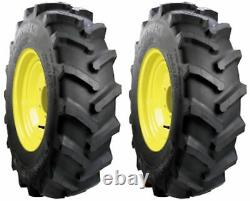(TWO) 7-14 CARLISLE FARM SPECIALIST R-1 Lug Compact Tractor Tires 6ply Rated
