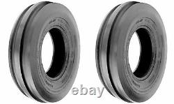 TWO 7.5L-15 Tri 3-Rib Front Farm Tractor Tires & Tubes 6Ply Rated F2 Heavy Duty