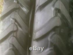 TWO 7x14 7-14 6 ply DEMO DERBY TIRES FARM AG TRACTOR R-1 LUG TRACTION TIRES