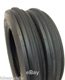 TWO NEW 5.00-15 WithTUBES 5.00x15, 3 Rib F2 Tractor Farm 2 TIRES + 2 TUBES