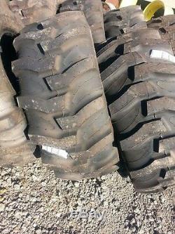 TWO New 17.5Lx24 R4 Massey Ferguson B Loader Farm Tractor Tires withWheels