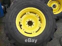 TWO New 19.5Lx24 R4 T/L 12 Ply Kubota, John Deere Farm Tractor Tires withWheels