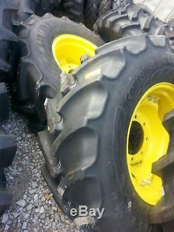 TWO New 440/65R24 Continental John Deere Farm Tractor Tires withWheels