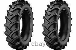 TWO New 5.00-12 StarMaxx TR-60 R-1 Lug Compact Farm Tractor Tires & Tubes