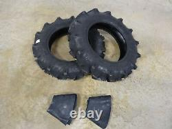 TWO New 8-18 BKT TR-144 Farm Tractor Lug R-1 Tires 6 ply WITH Tubes