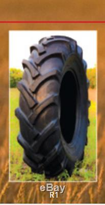 TWO New Tires 13.6 24 K9 Ag Tractor Rear R1 8 Ply Tube Type 13.6x24 Farm DOB
