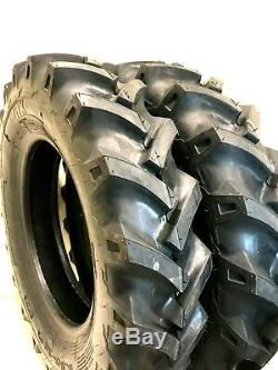 Two 6.50-16, 6.50x16 Tires & Tubes Heavy Duty 6 PLY R1 Farm Tractor Tires Tubes