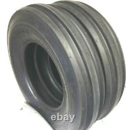 Two 750-16 Ultra 12 Ply Heavy Duty Tractor Rib Tires F2 7.50-16 Tri Rib 7.50 16