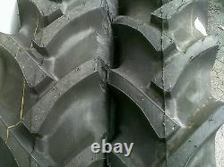 Two 7.2-30 R-1 Farm Bar Lug Mower Tractor Tires/tubes Bkt Fits Allis 6-30