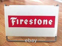 Vintage Firestone Tire Sign Gas Station Garage Farm Truck Tractor Store Display